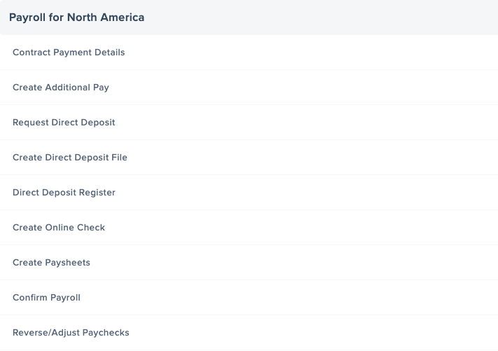 Common Payroll for North America Privileged Access PeopleSoft Pages