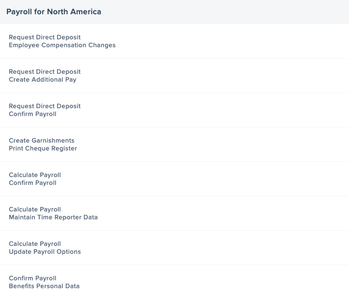 Common PeopleSoft Segregation of Duties Controls for Payroll for North America